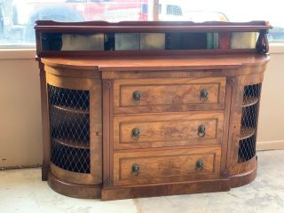 Antique Mahogany Dining Sideboard Buffet,  Vintage Furniture