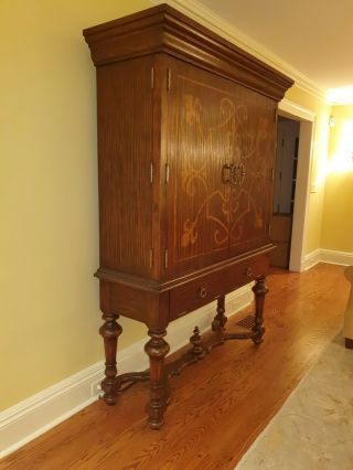 Vintage Armoire Tv Cabinet Fits 50 Inch Tv
