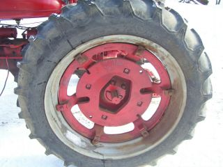 "Vintage Farmall H Tractor - 2 Rear Wheels & Tires - 12.  4 X 38 "" - 1951"