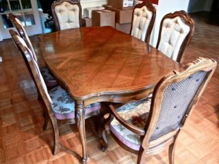 Vintage Thomasville French Provincial Dining Room Set 8 Chairs,  Usa