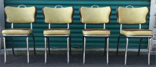 Rare Design Set Of 4 Vintage Kitchen Chairs By Metal Masters Of Detroit Freeship