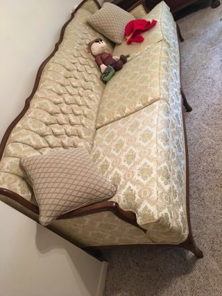 Antique Victorian Settee Sofa Chaise Couch Vintage