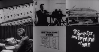 16mm Film The Computer And The Mind Of Man (1962) Vintage Computer Technology Pd