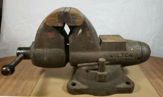 Vintage 1970s Wilton C - 1 Swivel Bullet Bench Combination Vise 60176 Illinois Usa
