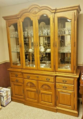 Vintage Broyhill Premier Mirrored China Cabinet
