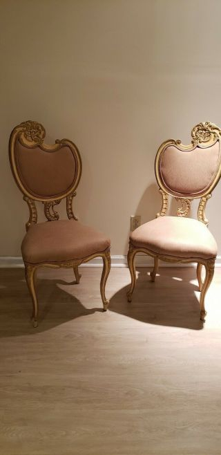 Pair Vintage French Chairs