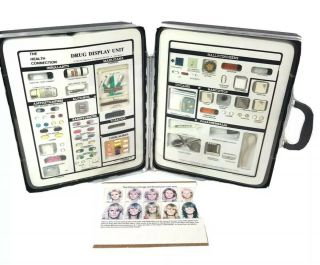 Vtg Identification Kit Police School Drug Education Rare Display Briefcase