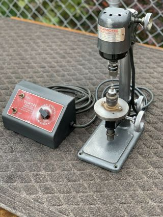 Vtg Rare Dumore Variable Hi Speed Sensitive Jewelers Mini Drill Press 16 - 011
