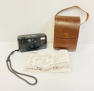 Vintage Yashica T4 Superd 35mm Point & Shoot Camera Waterproof Case Instructions