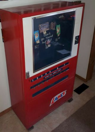 Vintage Lance Snack Vending Machine With Keys In