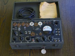 Vintage I - 177 B Tube Tester,  Father Of Tv - 7,  5u4 6sn7