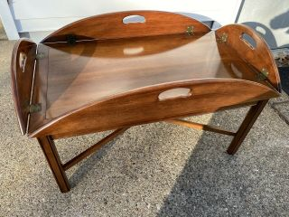 """Vintage Statton Furniture Solid Cherry Traditional Style 46 """" Butler Coffee Table"""