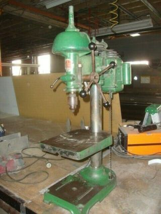 Walker Turner Vintage Drill Press With Slow - Speed Attachment