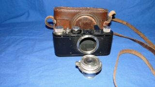 Vintage Leica 1 Camera,  Serial No.  60670 With Leather Case - For Restoration