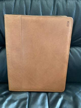 Vintage Hartmann Leather Folio Zippered Notepad Holder