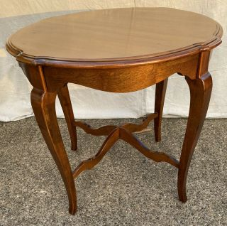 Vintage Ethan Allen Country French Round End Table 26 - 8204 Finish 216 Item B