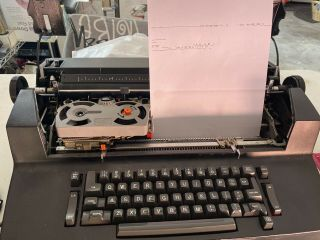 Vintage Ibm Selectric Ii [2] Black Correcting Electric Typewriter W/ Element