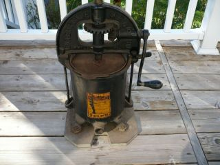 Vintage Enterprise Mfg.  Co.  No.  35 Lard/fruit Press/stuffer 8 Quart