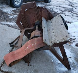 Vintage Ferguson Tractor 3 Point Saw Rig With Table An Belt Oem Ferguson Equip