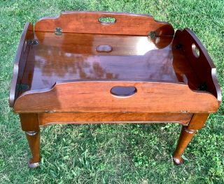 Vintage Cherry Butlers Top Coffee Table Campaign Hooker Furniture Company