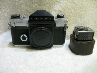 Canon Canonflex R2000 Vintage 35mm Film Slr With Clip On Light Meter