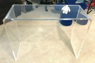"""Vintage Lucite Waterfall Style Desk 38 """" X 29 """" X 16 """""""