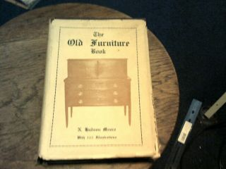 1937 The Old Furniture Book By N.  Hudson Moore