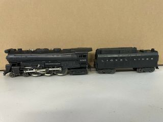 Lionel Trains 2065 Hudson Steam Locomotive W/ Whistle Tender 6466w O - Gauge