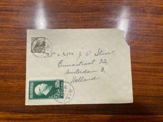 1951 China Prc Shanghai To Holland Cover Mixed Franking R4 And C9