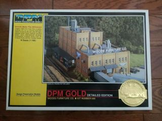 N Scale Dpm Gold - Woods Furniture Co.  Building Kit N 660