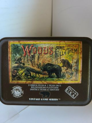 Channel Craft The Woods Are Full Of Them Dice Travel Game Metal Tin (a1)