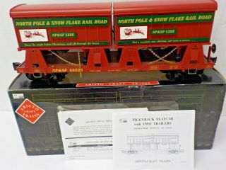 Aristo - Craft Art - 46525 Christmas Northpole & Snowflake Piggyback Car G Scale