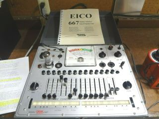 Eico 667 Dynamic Conductance Tube And Transistor Tester