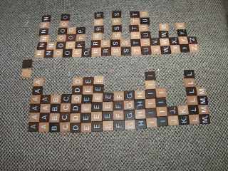Scrabble Letters Only From Alfreds Other Game Crafts Brown Tan Finished