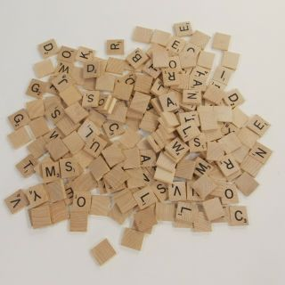 197 Scrabble Tiles Wood Letters Crafts Replacements Jewelry