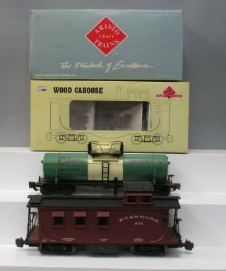 Aristo - Craft G Freight Cars: 82105 Et & Wnc Caboose & 41311 Celanese Tank [2]