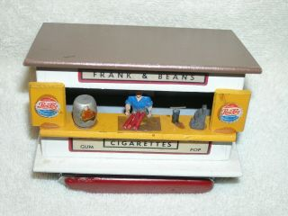 American Flyer Mini - Craft Frank & Beans Stand From 271 Whistle Stop Set Ex