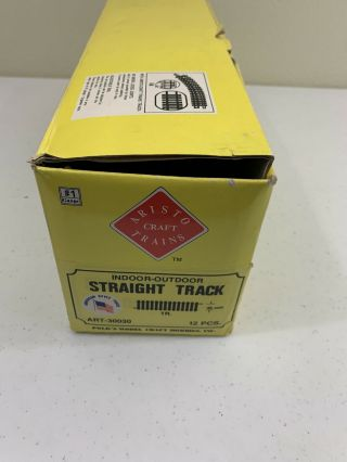 "Aristo Craft Box Of (12) 12 "" Straight Track G Scale"