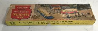 Aristo Craft Realistic Electric Trolley Bus System Ho Scale Vintage