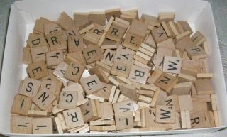 300 Wooden Scrabble Letters - Replacement Tiles,  Crafts Etc