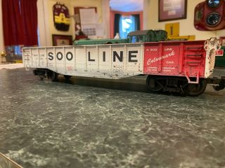 Aristo - Craft G Scale Soo Line Drop End Gondola W/ Junk Load Weathered