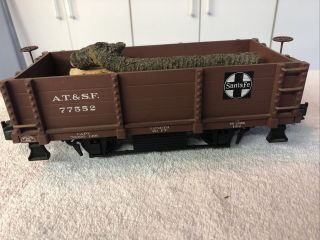 Aristo - Craft At& Sf - Wood Gondola Car - G Scale,  With Logs