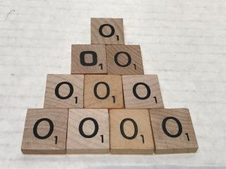 10 Scrabble Letter O Tiles For Replacements Or Crafts