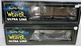 2 Quality Craft Weaver Ultra Line Flat Beds,  In Boxes.  O Scale.