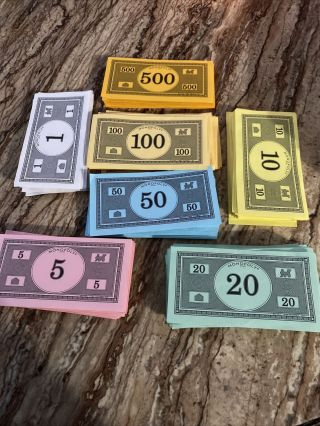 Monopoly Game Money Replacement Money Crafts Homeschool Math