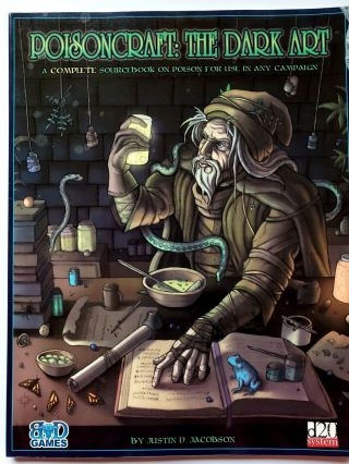 D20 Poison Craft The Dark Art.  A Source Book For Poison In Any Campaign Rpg D&d
