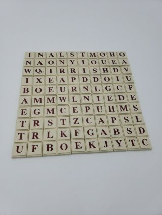 Upwords Letter Tiles 100 Replacement Board Game Plastic Mb,  Crafts 1997