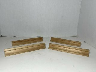 Scrabble Set Of 4 Wooden Tile Rack Holders Crafts Replacements