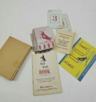 Vintage Rook Playing Card Set W/ Instructions Missing Box Arts Crafts Upcycle