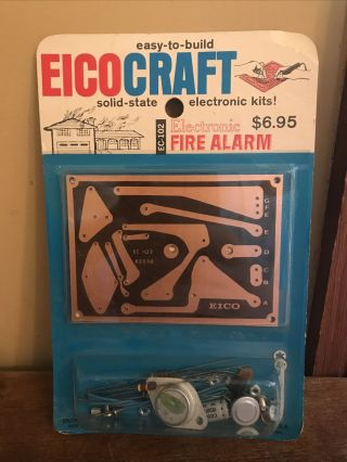 Vntg Eico Craft Electronic Kit Tox Ec - 102 Fire Alarm Nos